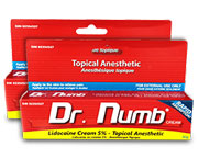 2 Tubes of Dr. Numb Instant Itch Relief Topical Anesthetic Cream
