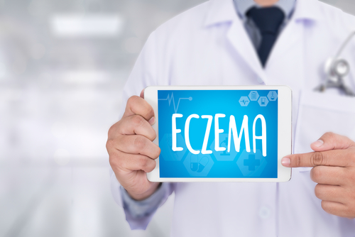 Eczema text written on small board